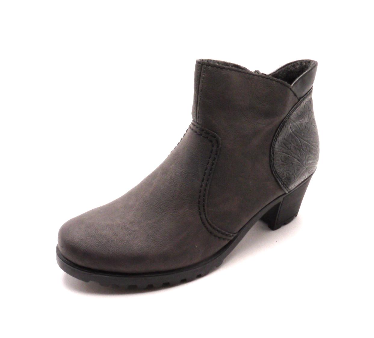 Rieker Dámské kotníkové boty s ozdobnou patou Y8060-46 Velikost: 36