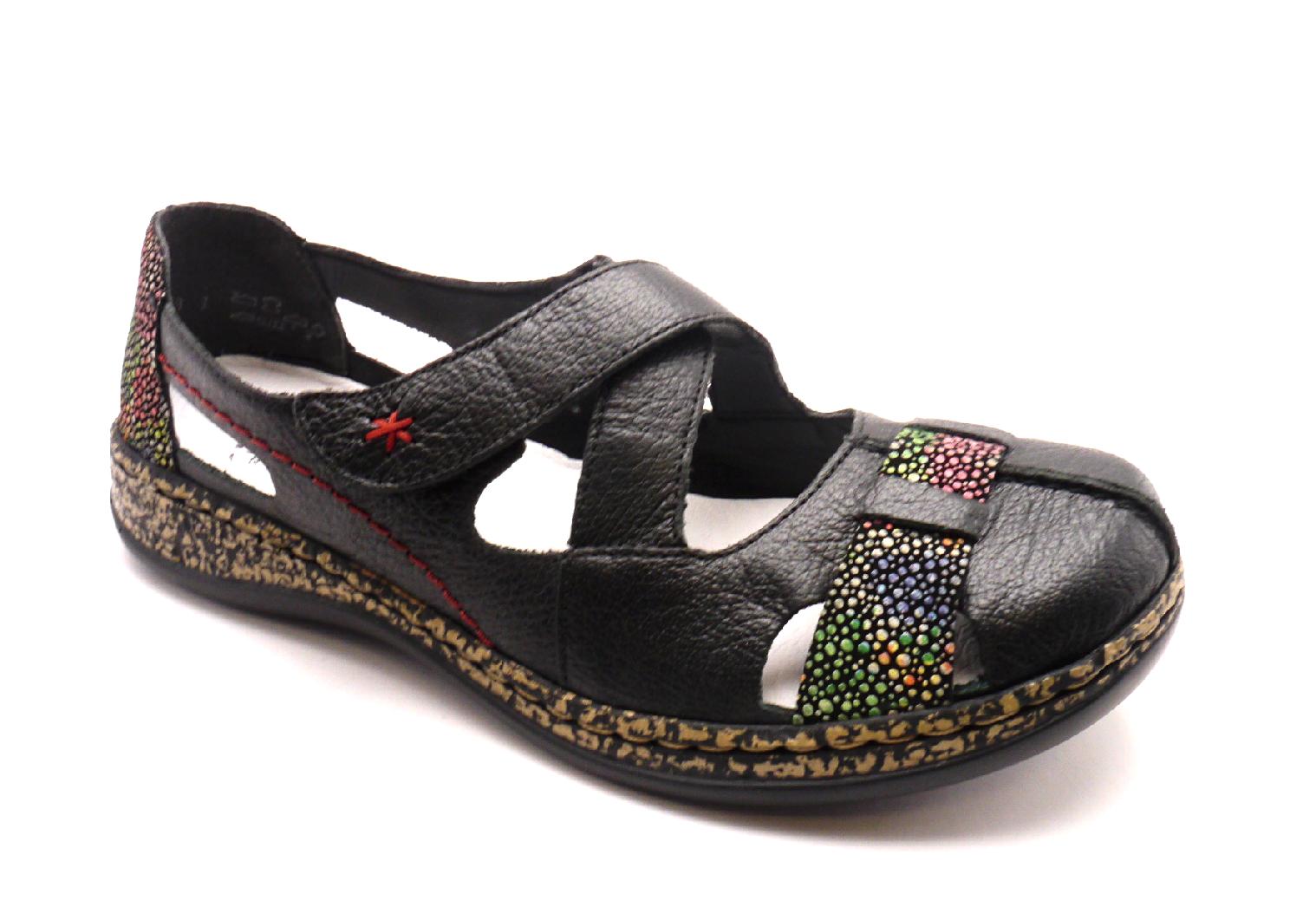 Rieker Dámské pohodlné sandály 46367-00 Velikost: 41