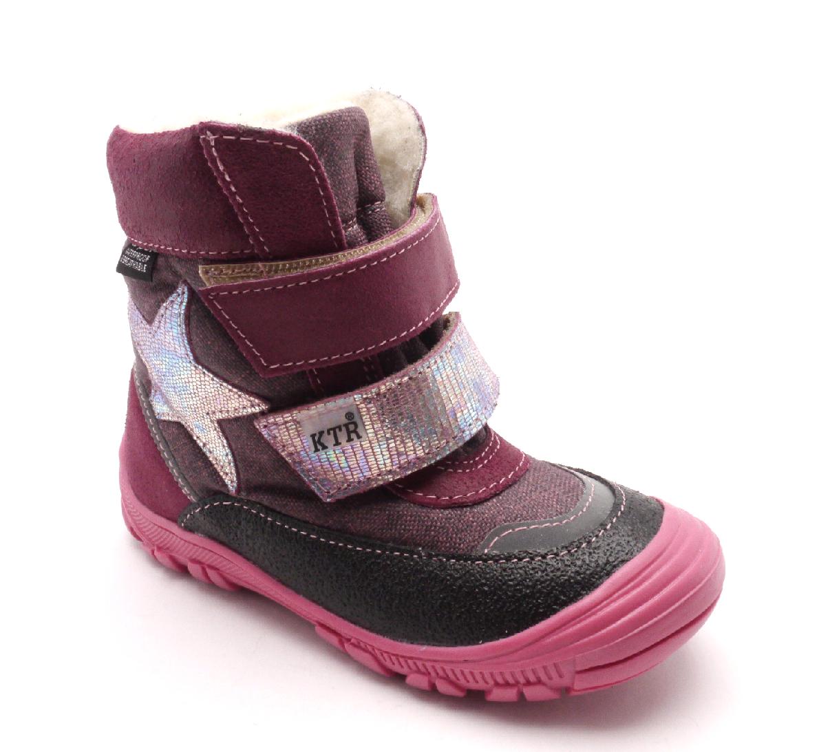 Konsorcium Dětská zimní kotníčková obuv 316/1/N2 Fuxia Velikost: 26