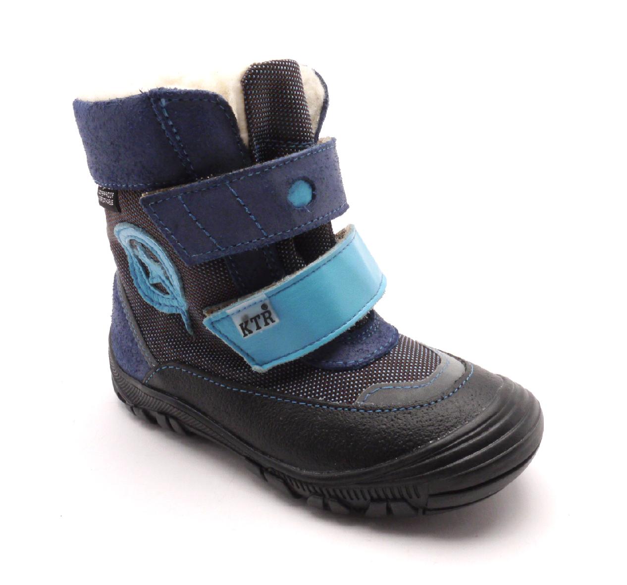 Konsorcium Dětská zimní kotníčková obuv 316/1/N2 Modrá velikost: 27