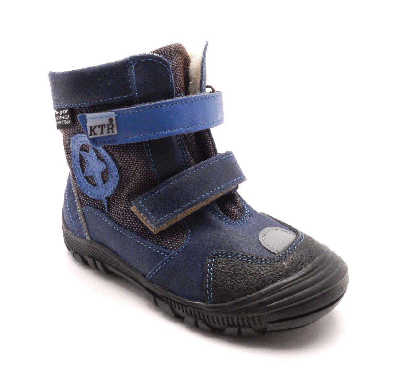 Konsorcium Dětská zimní obuv 315/1/N2 Modrá Velikost: 23