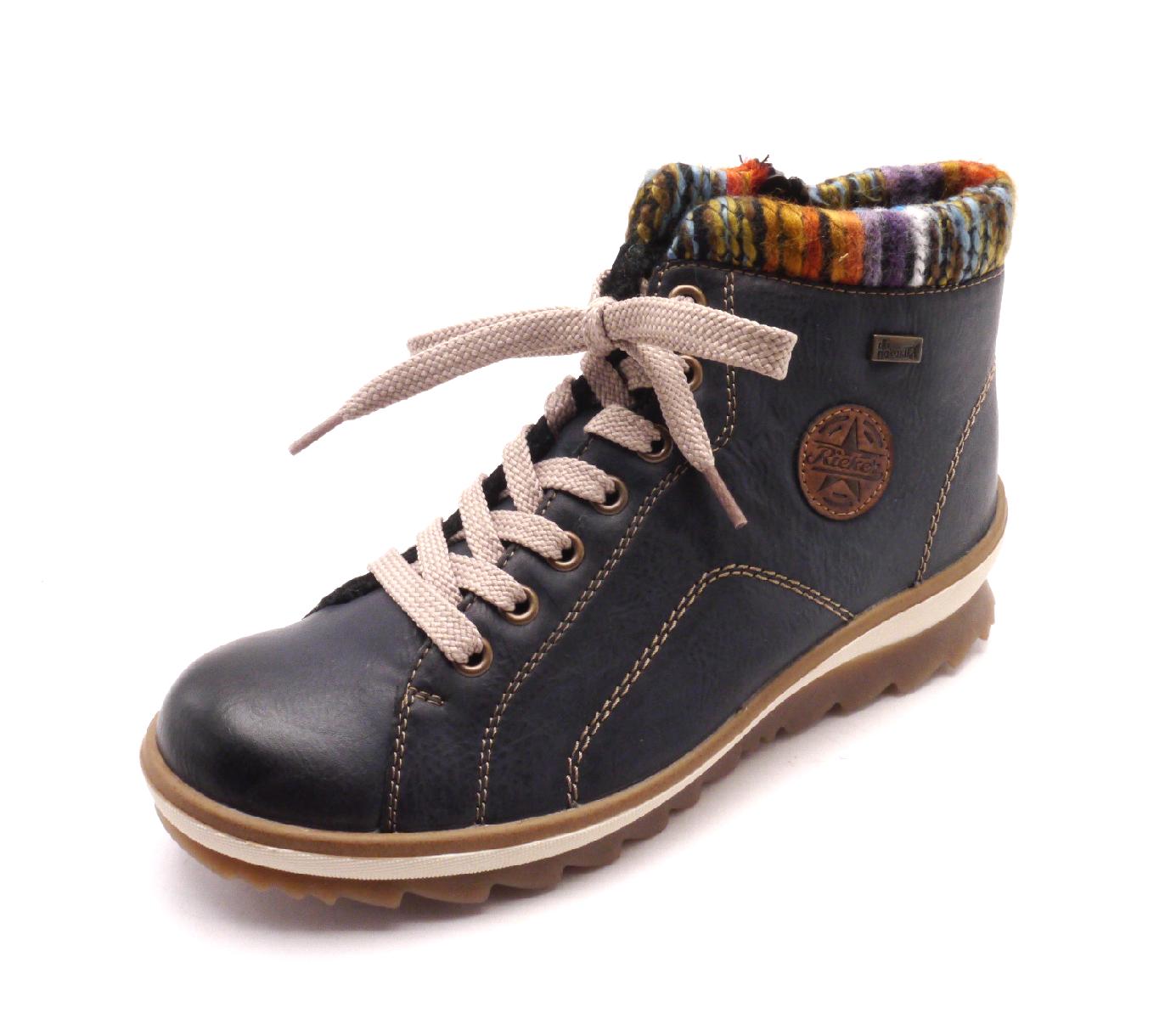 Rieker Dámské kotníkové boty s pleteninou K4370-14 Velikost: 35
