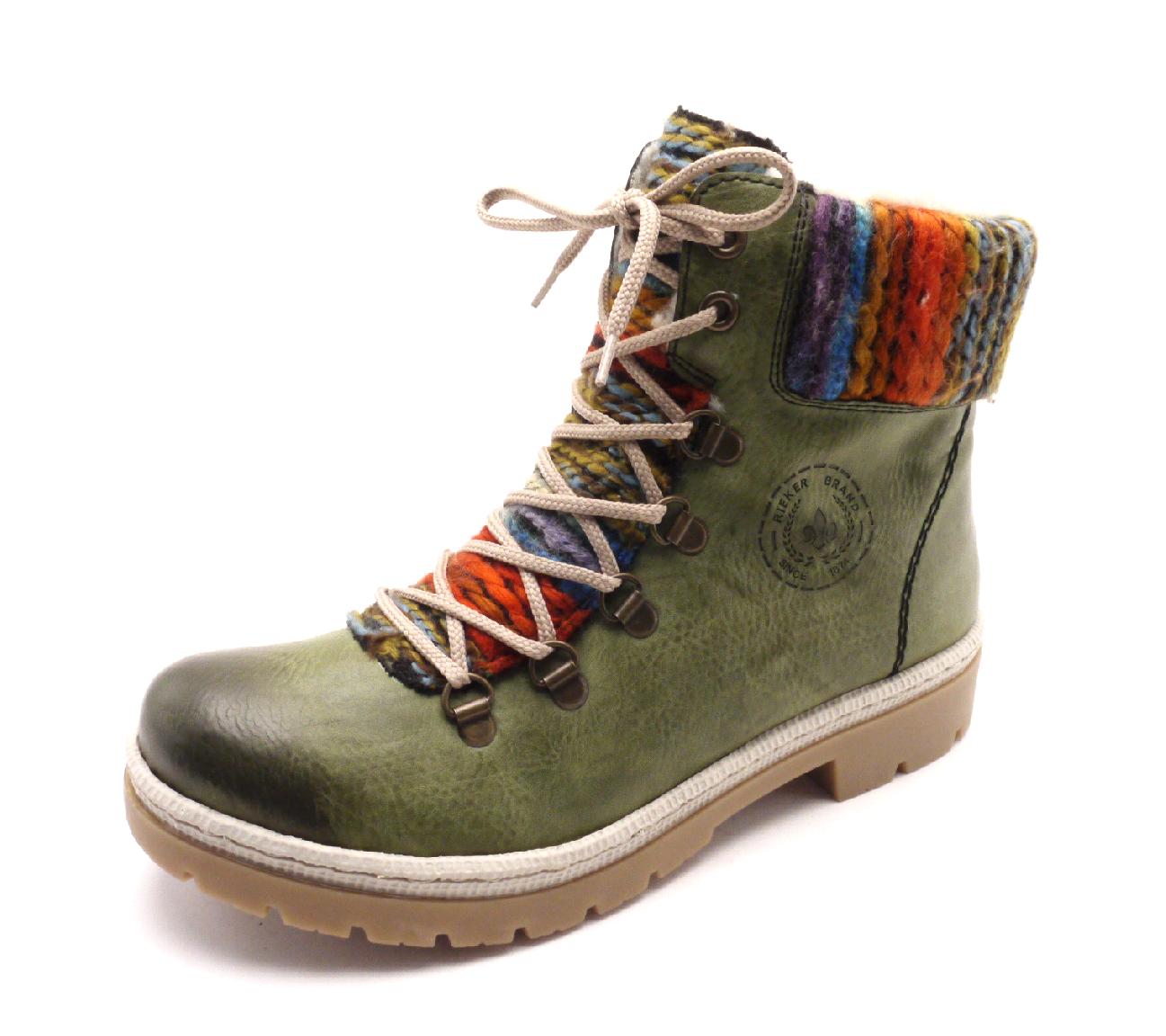 Rieker Dámské kotníkové boty s pleteninou y9432-52 Velikost: 40