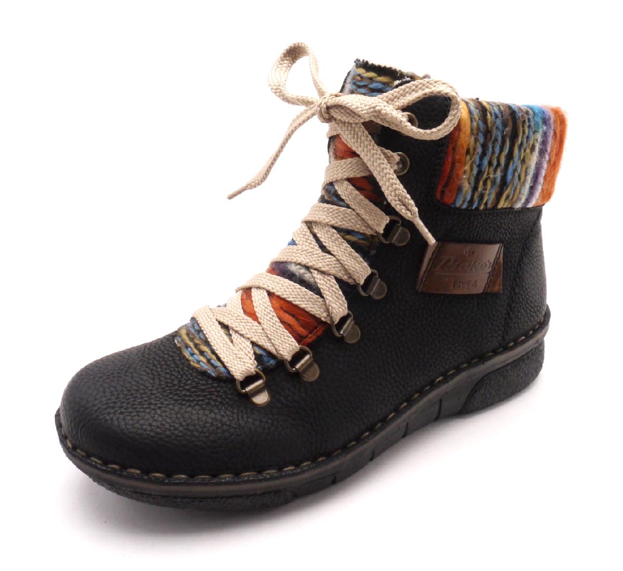 Rieker Dámské kotníkové boty s pleteninou 73343-00 Velikost: 42