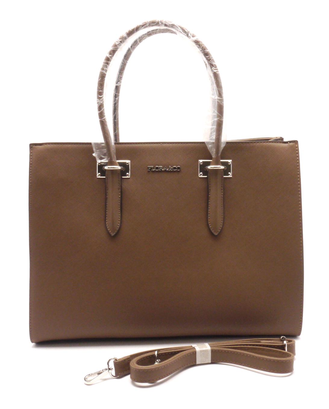 FLORA&CO Elegantní dámská kabelka 13-06 BROWN