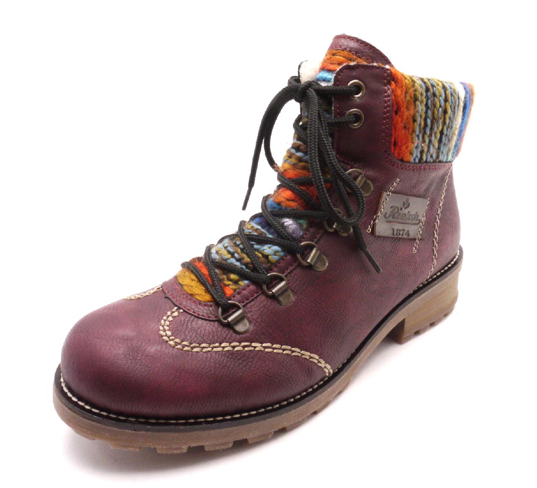Rieker Dámské kotníkové boty s pleteninou Z0443-35 Velikost: 42