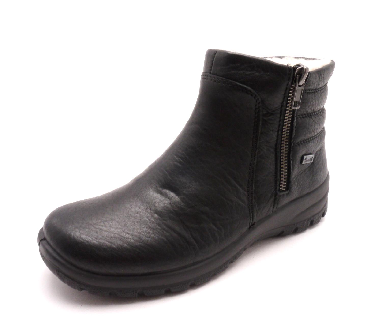 Rieker Dámské černé kotníkové boty Z7163-00 Velikost  37 f0b2a447b3