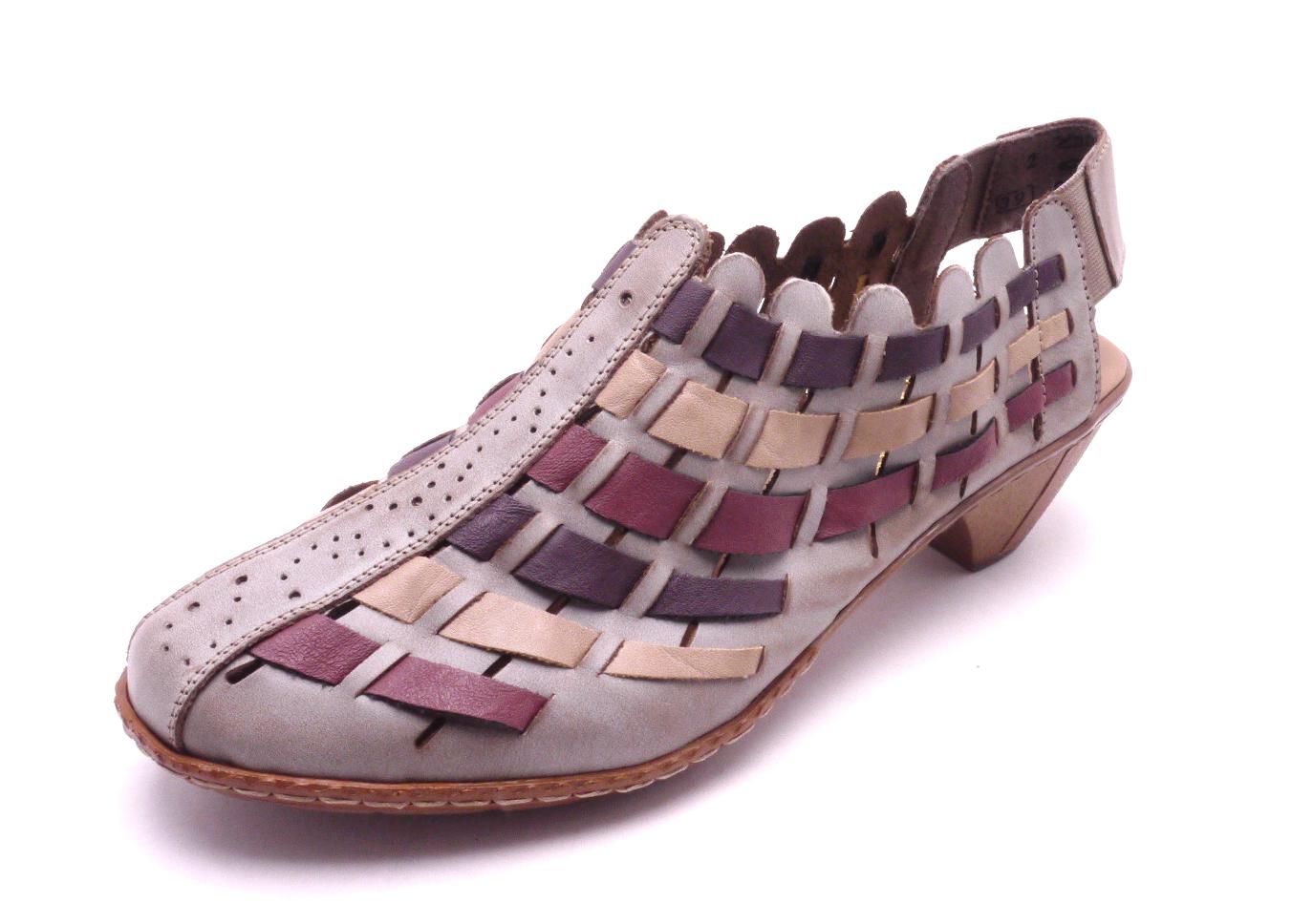 Rieker Dámská proplétaná obuv 46778-62 Velikost: 42