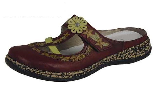 Rieker Dámské pohodlné pantofle s kytičkou 46338-35 Velikost: 37