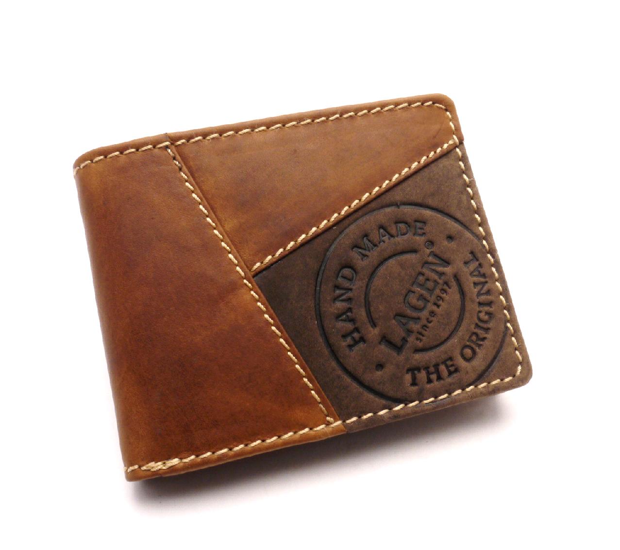 Lagen Pánská kožená peněženka 51148 TAN