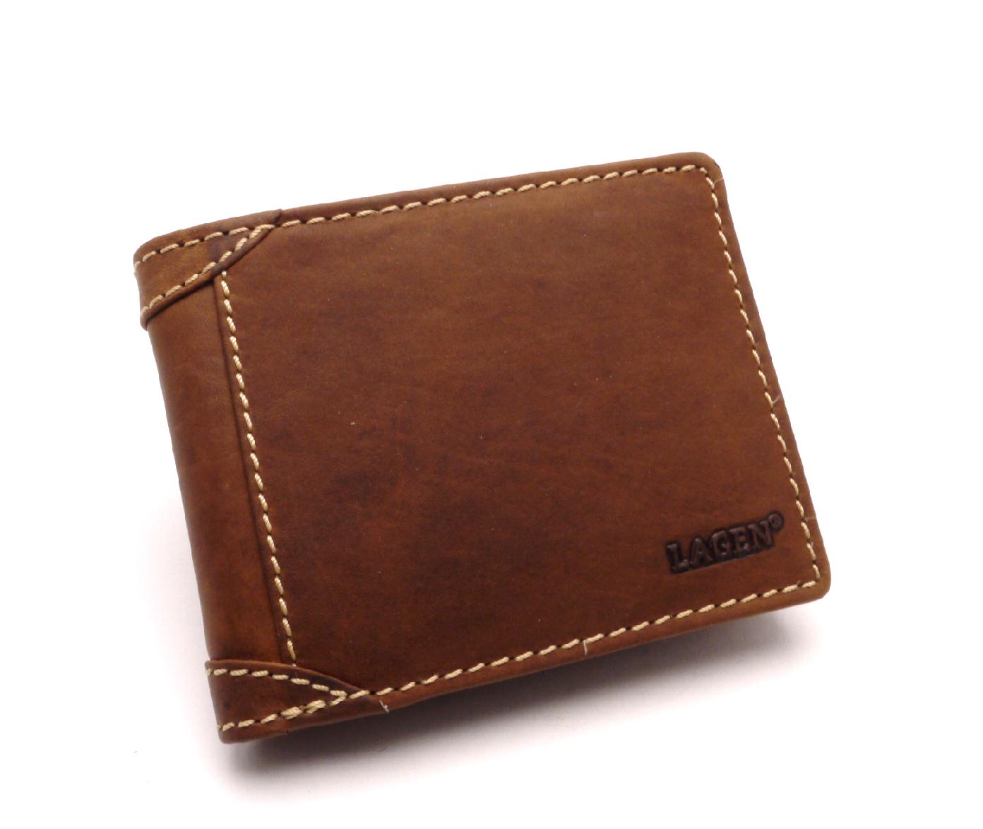Lagen Pánská kožená peněženka 511462 TAN