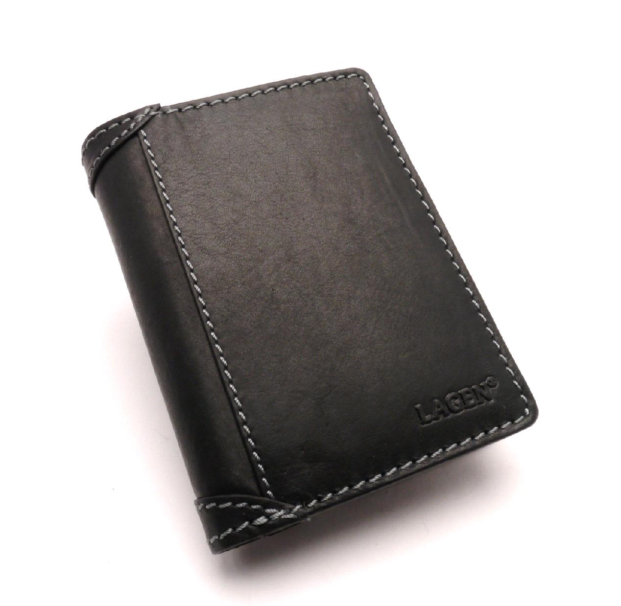 Lagen Pánská kožená peněženka 51146 BLACK