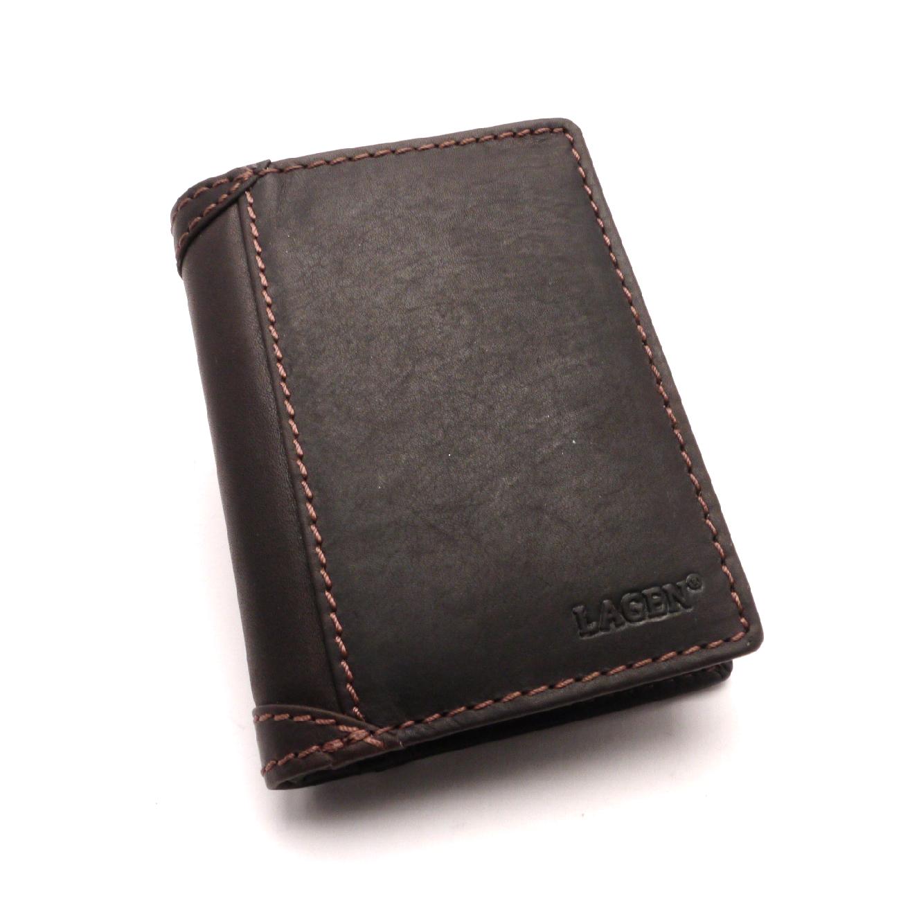 Lagen Pánská kožená peněženka 51146 BROWN
