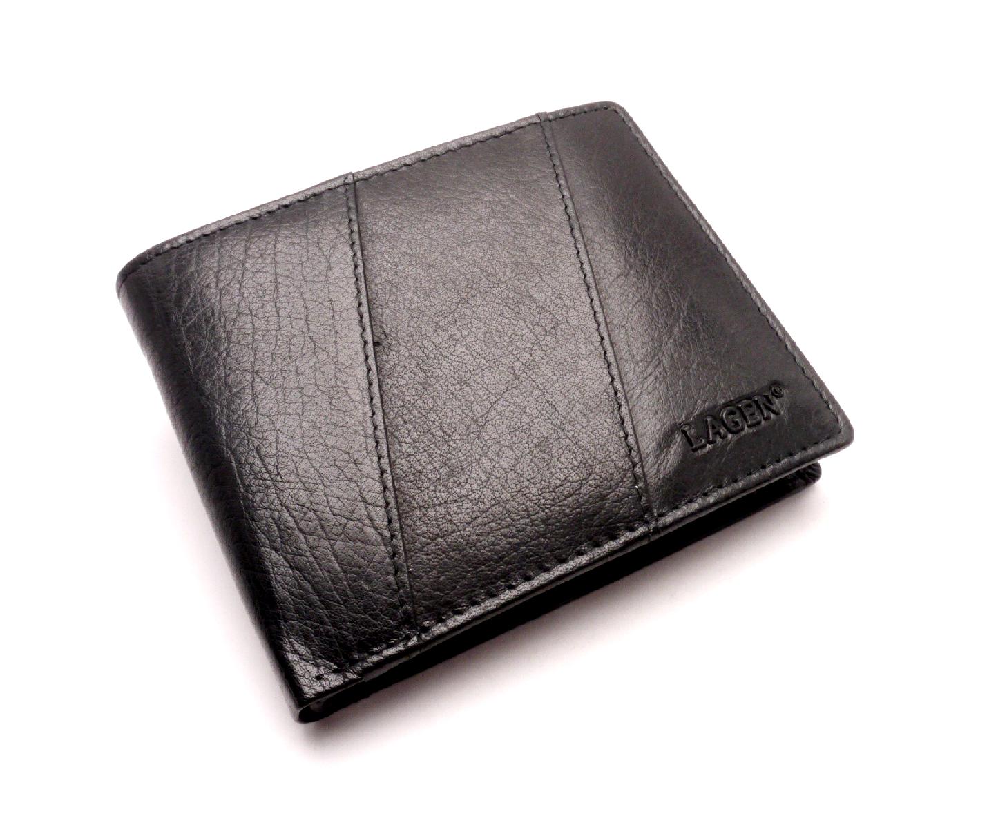 Lagen Pánská kožená peněženka PW-520 BLACK