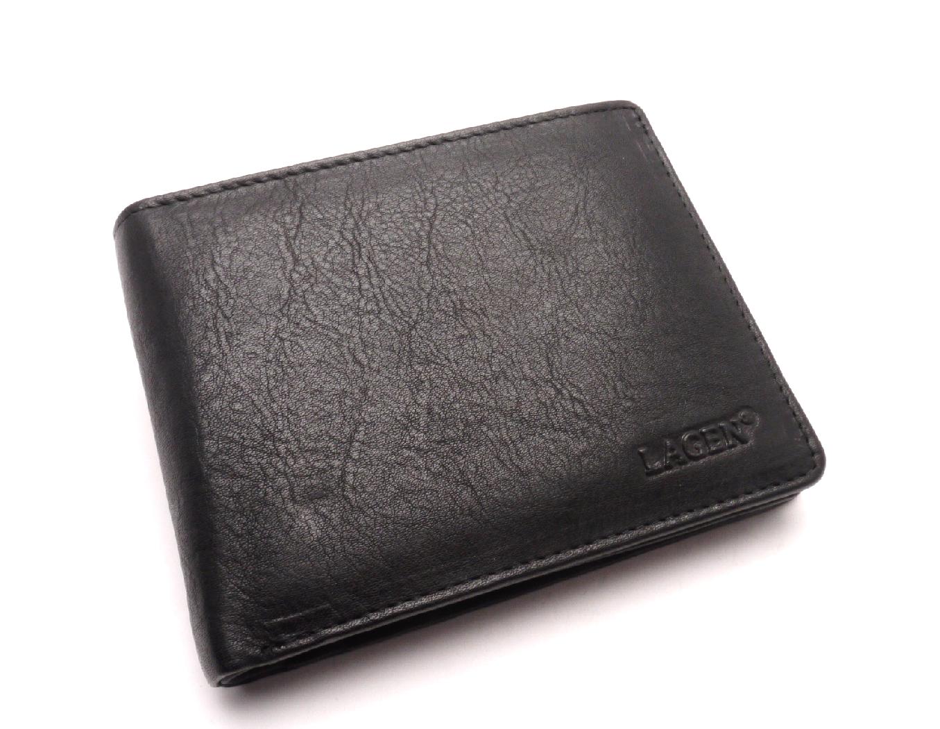 Lagen Pánská kožená peněženka 2104 E BLACK