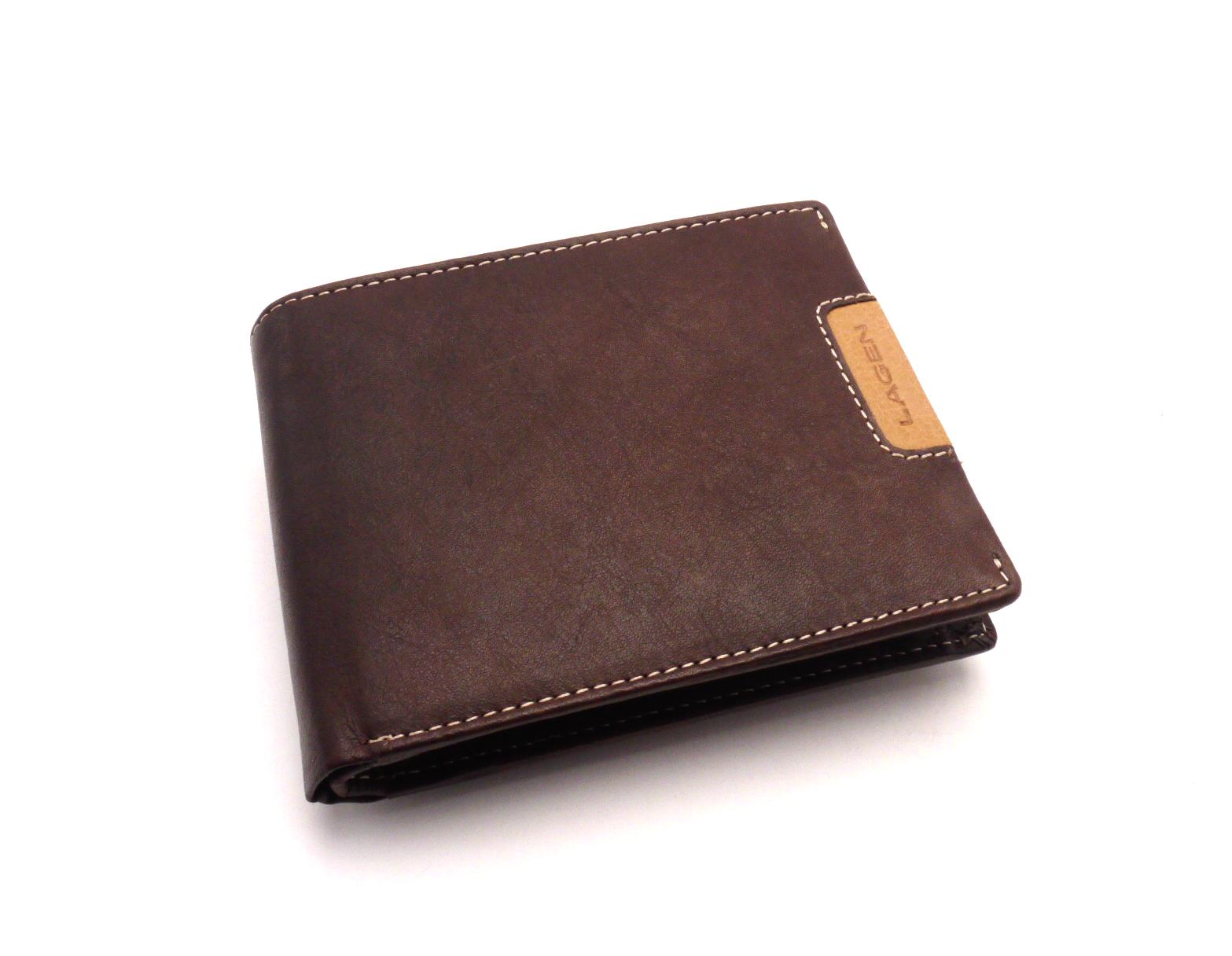Lagen Pánská kožená peněženka 615196 BROWN