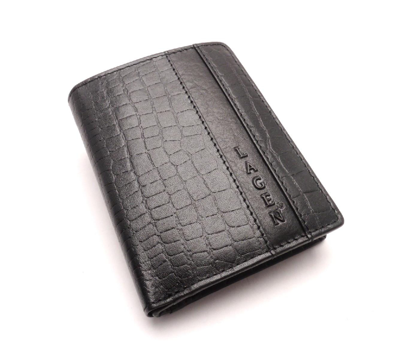Lagen Pánská kožená peněženka 4019NC BLACK