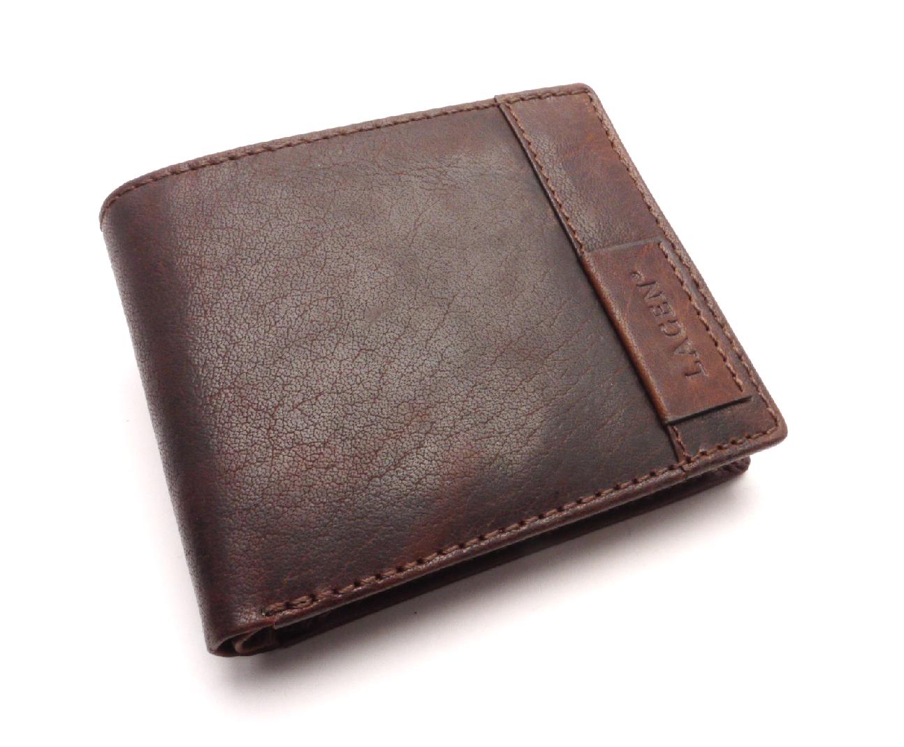 Lagen Pánská kožená peněženka LN-9114 TAN