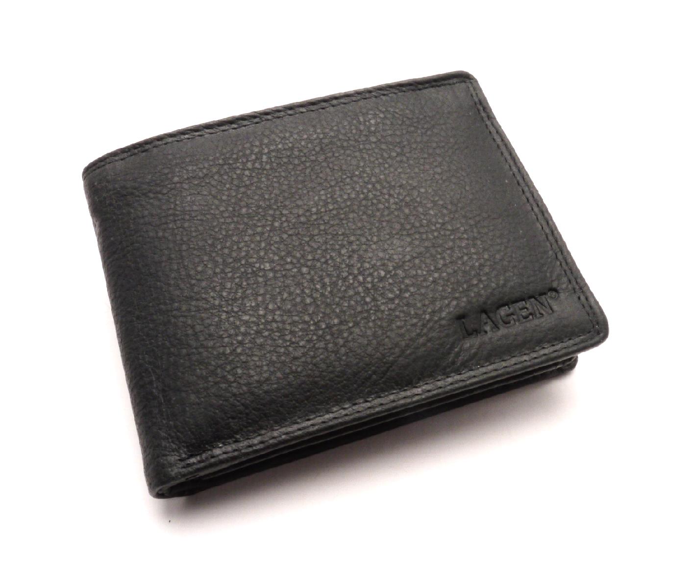 Lagen Pánská kožená peněženka 103 BLACK