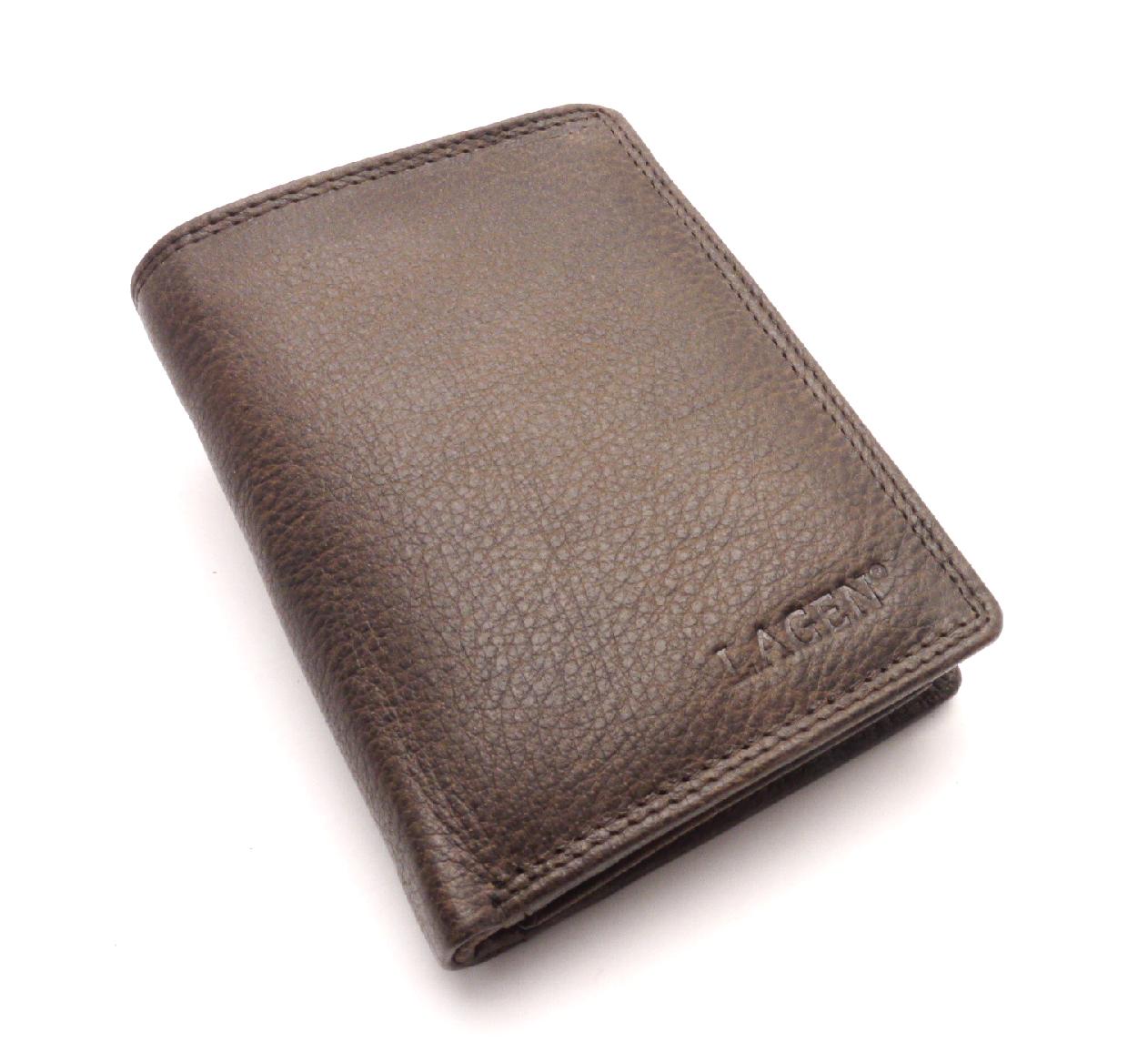 Lagen Pánská kožená peněženka 90752 DARK BROWN