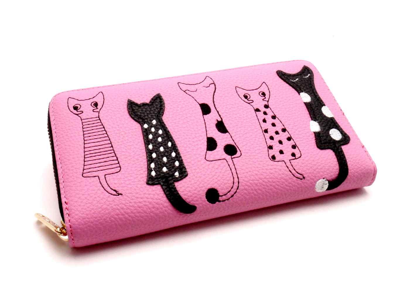 3a79475e70d MCM Dámská peněženka kočky růžová