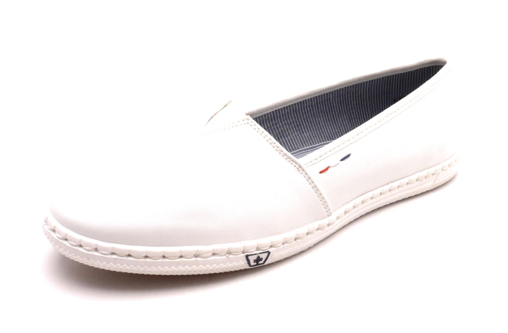 Rieker Dámské bílé mokasíny M2770-81 Velikost: 41