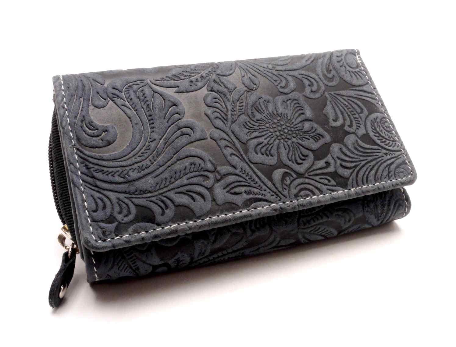 Anekta Dámská peněženka s ornamenty D41-36 DARK BLUE