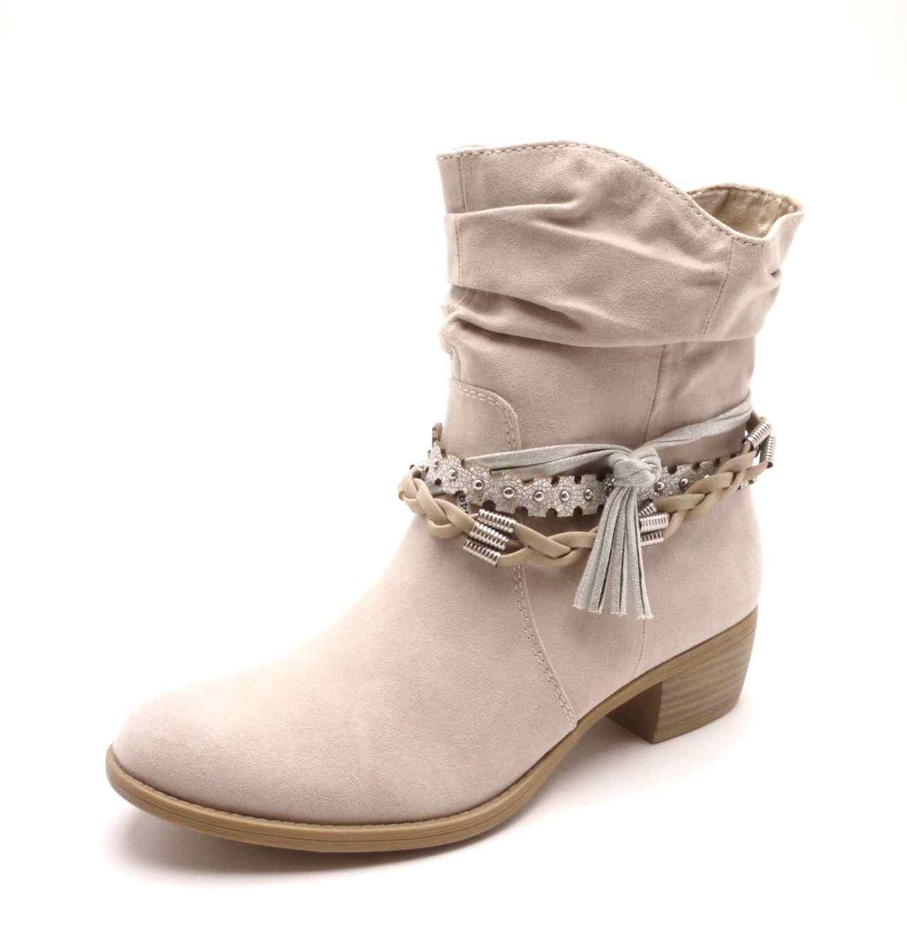 Marco Tozzi Dámská kotníčková béžová obuv 2-25316-30 dune comb Velikost  36 13127b4f2f