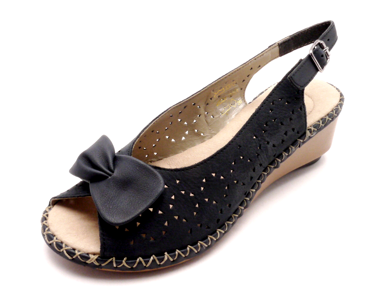 Rieker Dámské elegantní sandály na klínku 66178-14 Velikost  39 7de78552eb