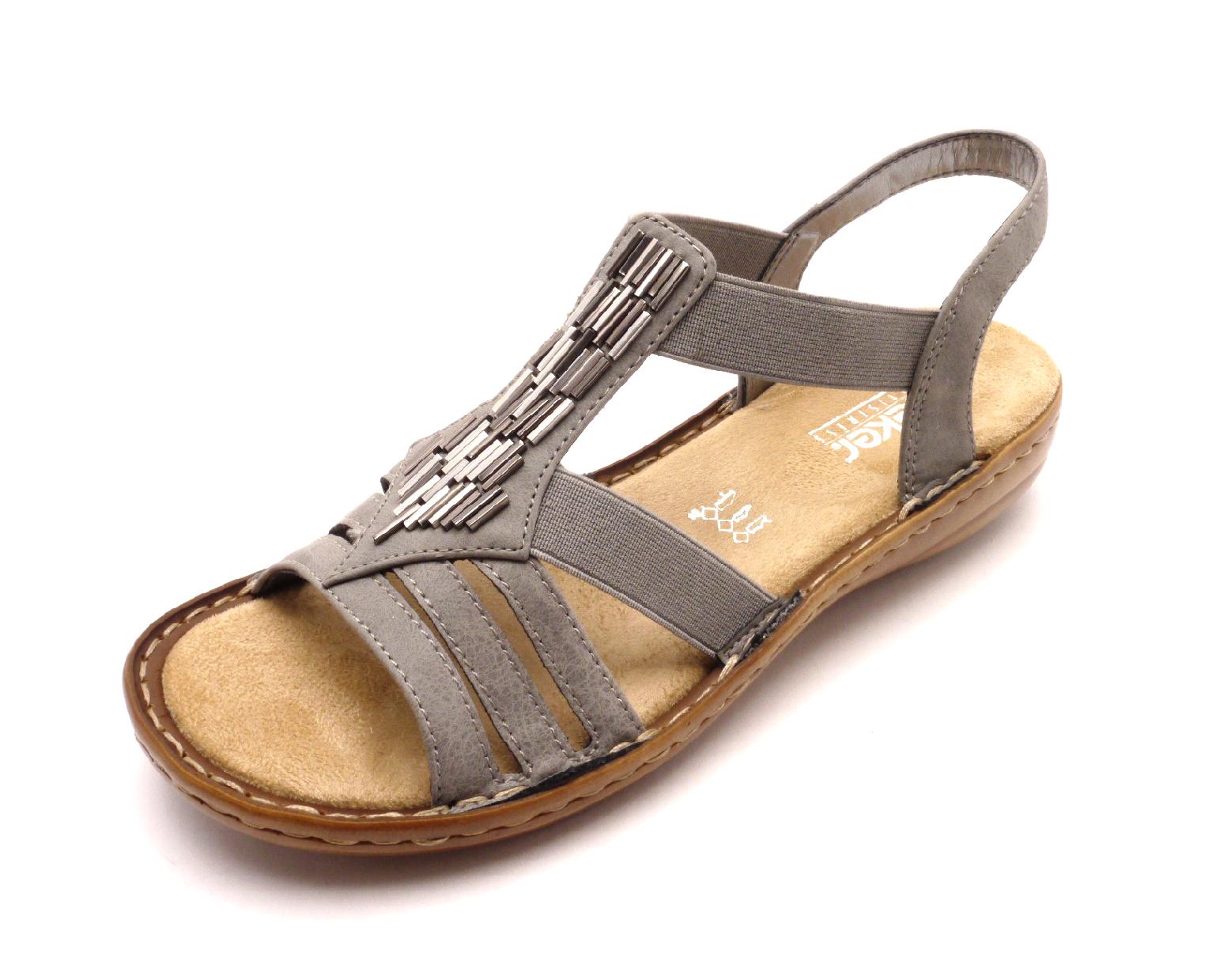 Rieker Dámské nazouvací sandály 60800-42 Velikost: 39