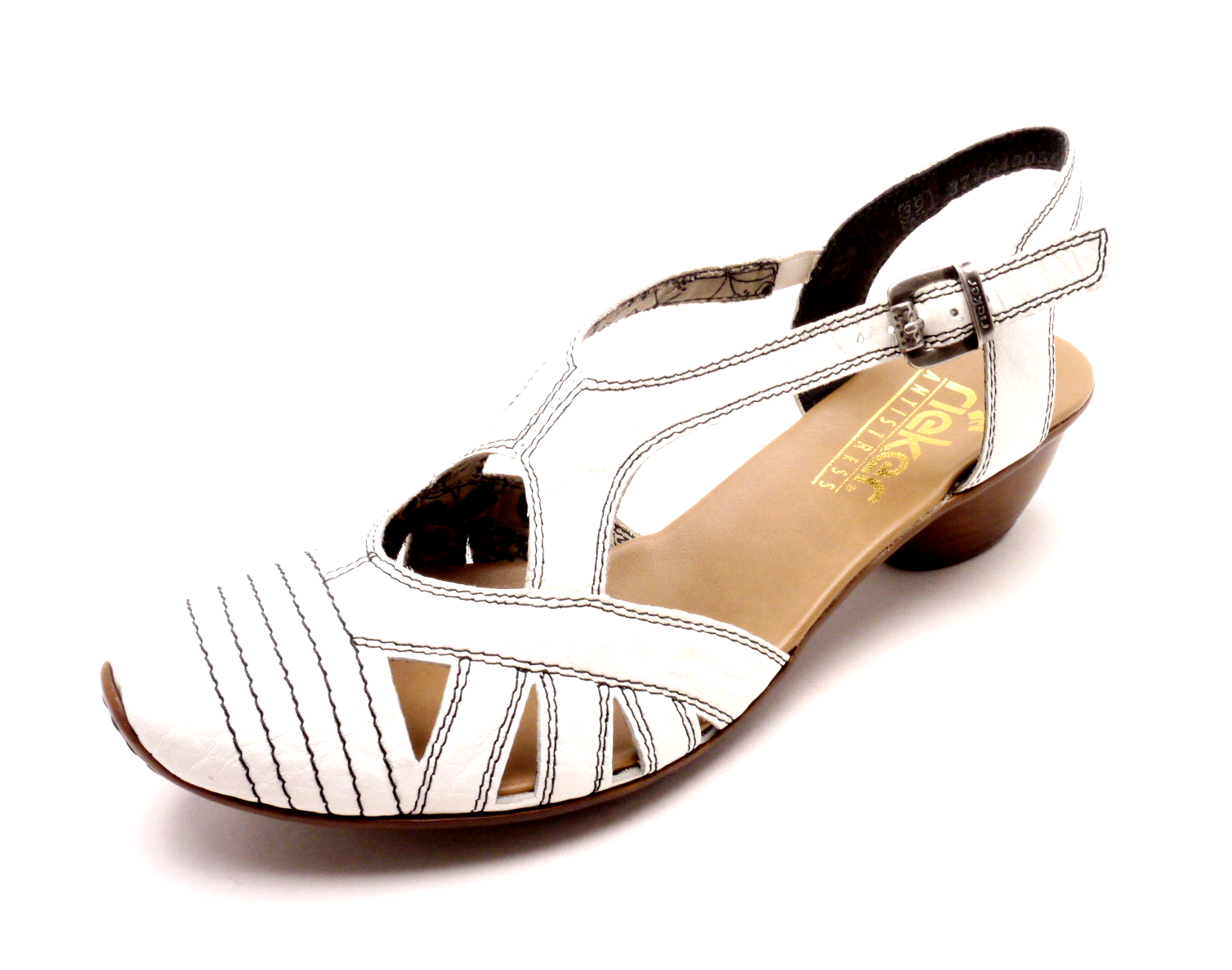 367cb35ef36b Rieker Dámské sandály na podpatku s plnou špičkou 43743-80 Velikost  39