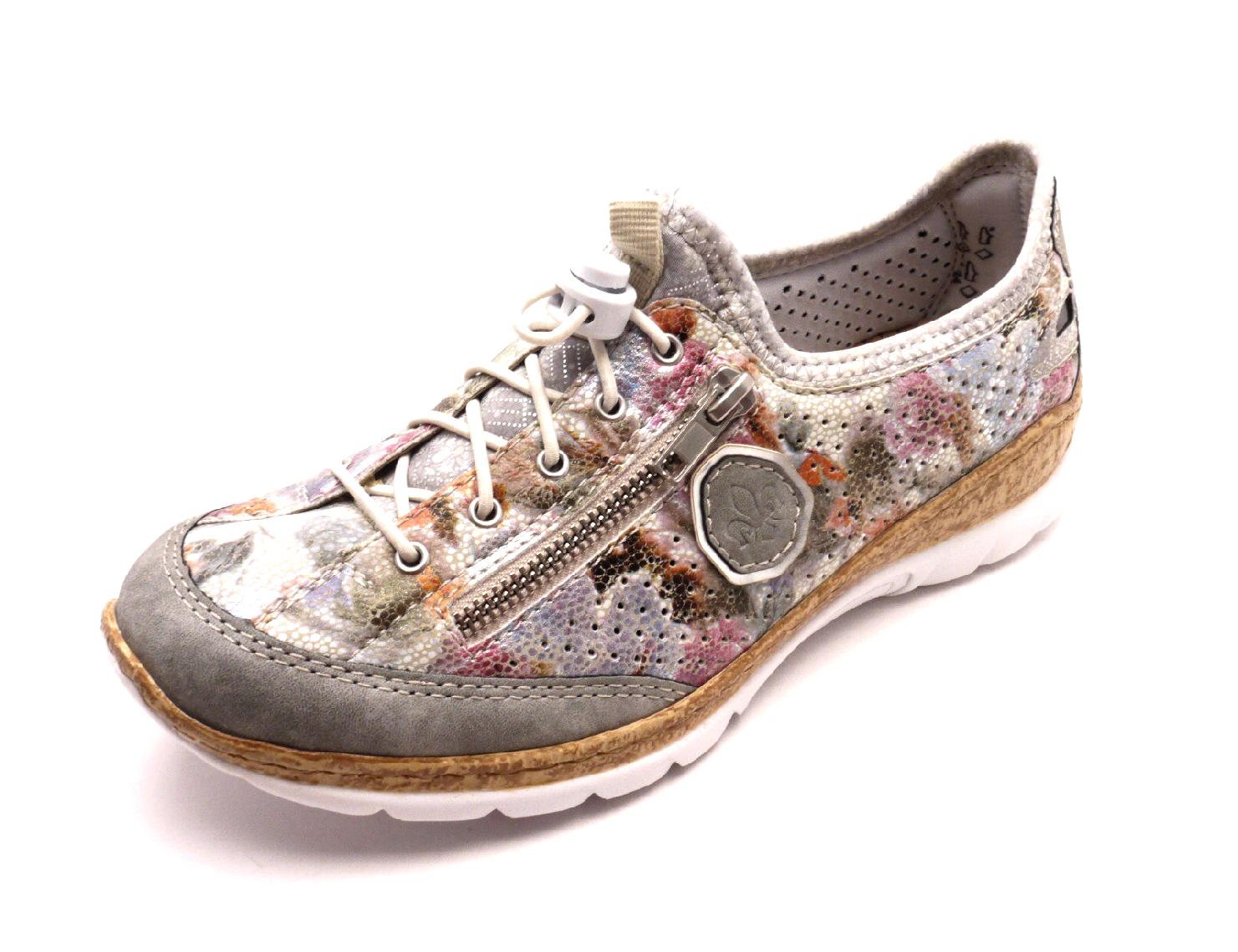 Rieker Dámská sportovní obuv N42V1-40 cement Velikost  41 79c0924e1e