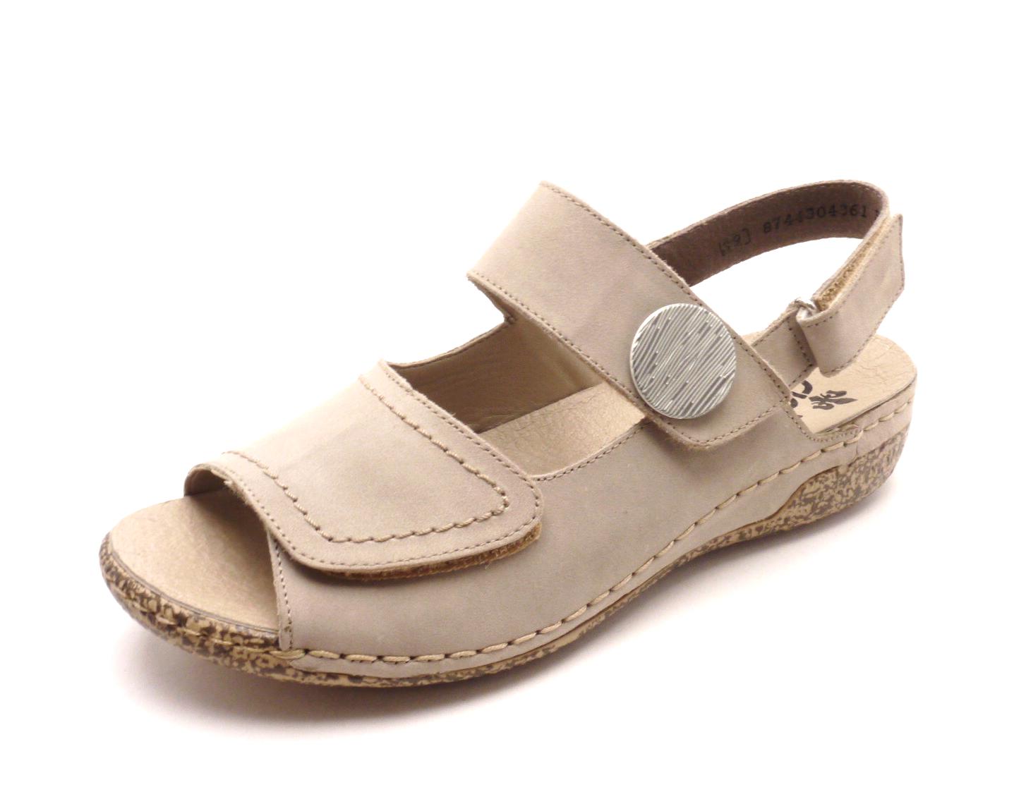 Rieker Dámské béžové sandále V7272-42 Velikost: 38
