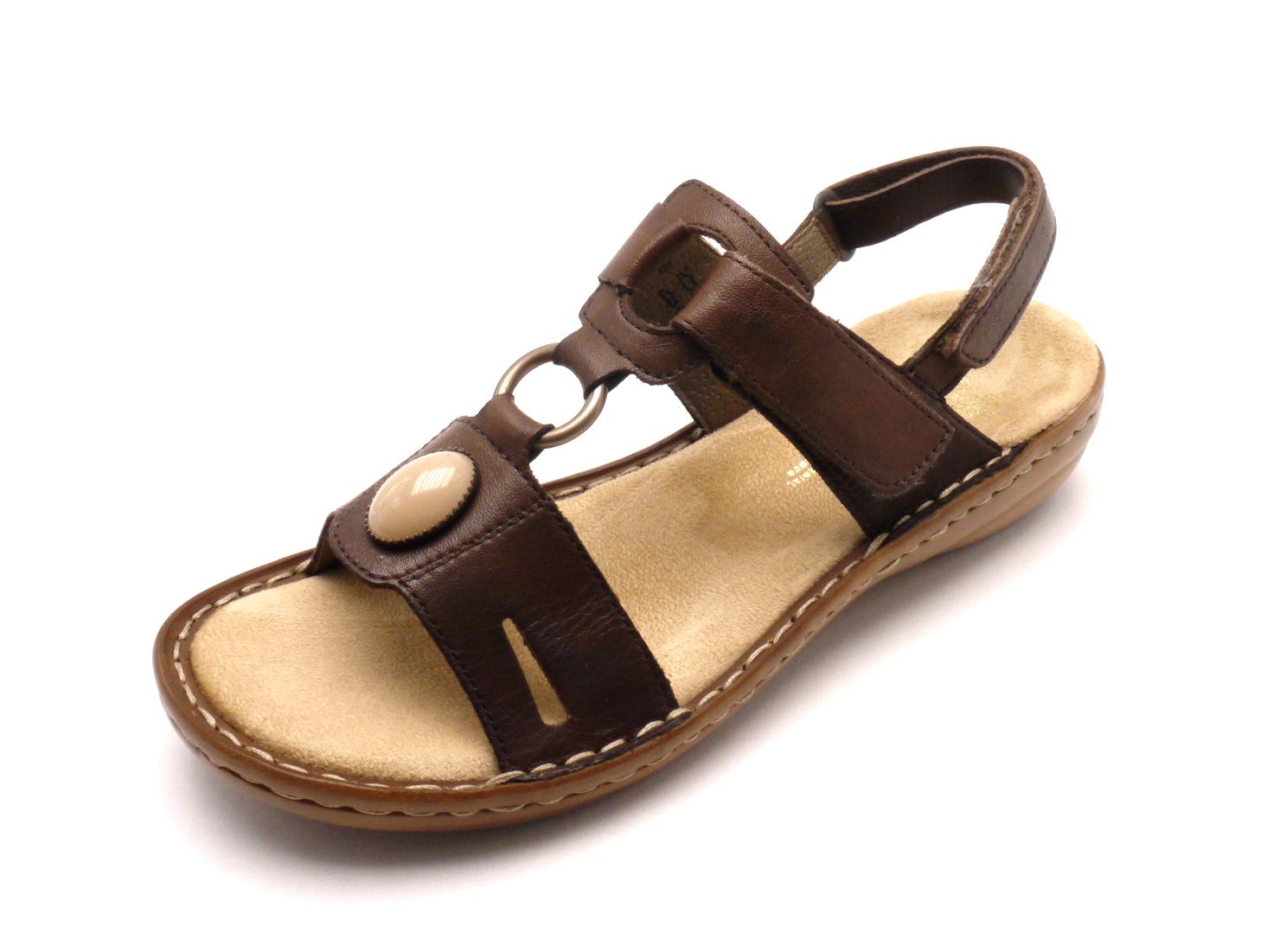 Rieker Dámské hnědé nazouvací sandály 60874-26 Velikost  39 500580b968