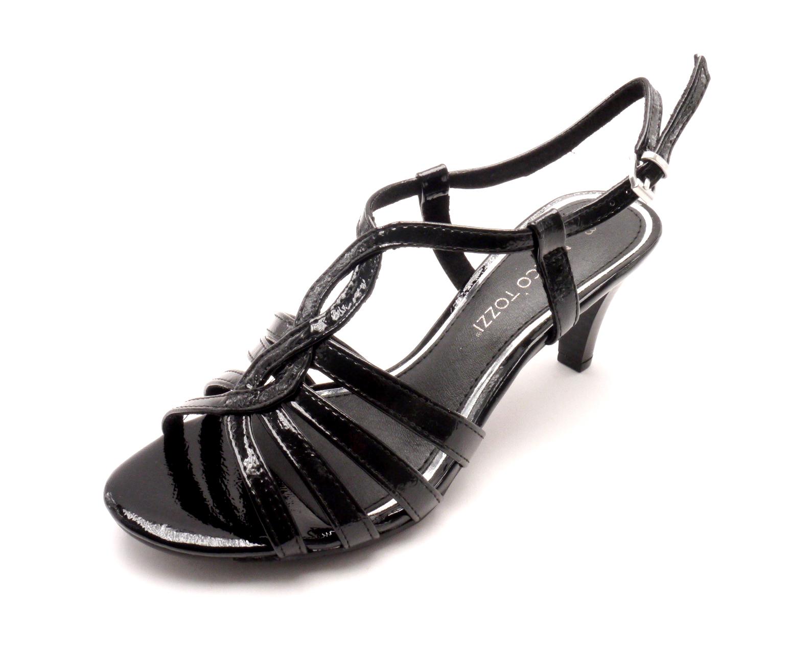 Marco Tozzi Dámská černá obuv na podpatku 2-28321-018 Velikost: 40