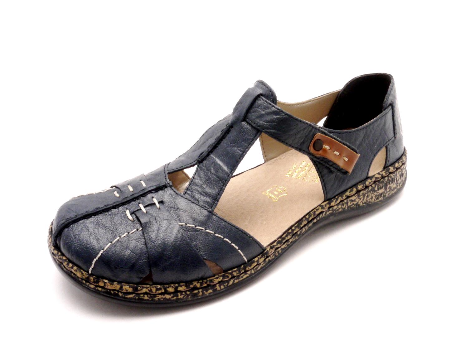 175a3ee15732b Rieker Dámské modré sandály 46380-14 Velikost: 38