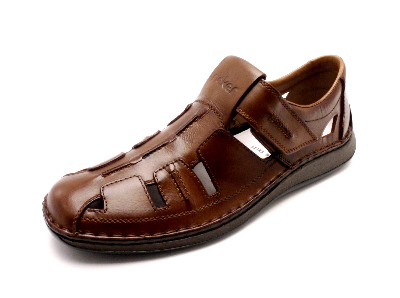 b9c2af79032d Rieker Pánské hnědé uzavřené sandály 05256-25 Velikost  42