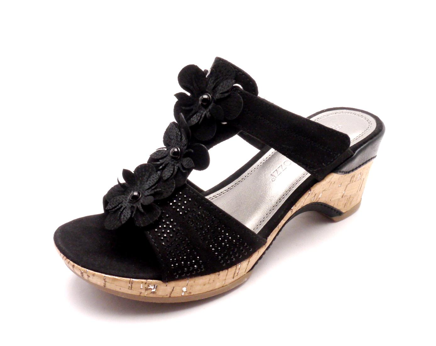 Marco Tozzi Dámské pantofle 2-27213-001 BLACK Velikost: 38