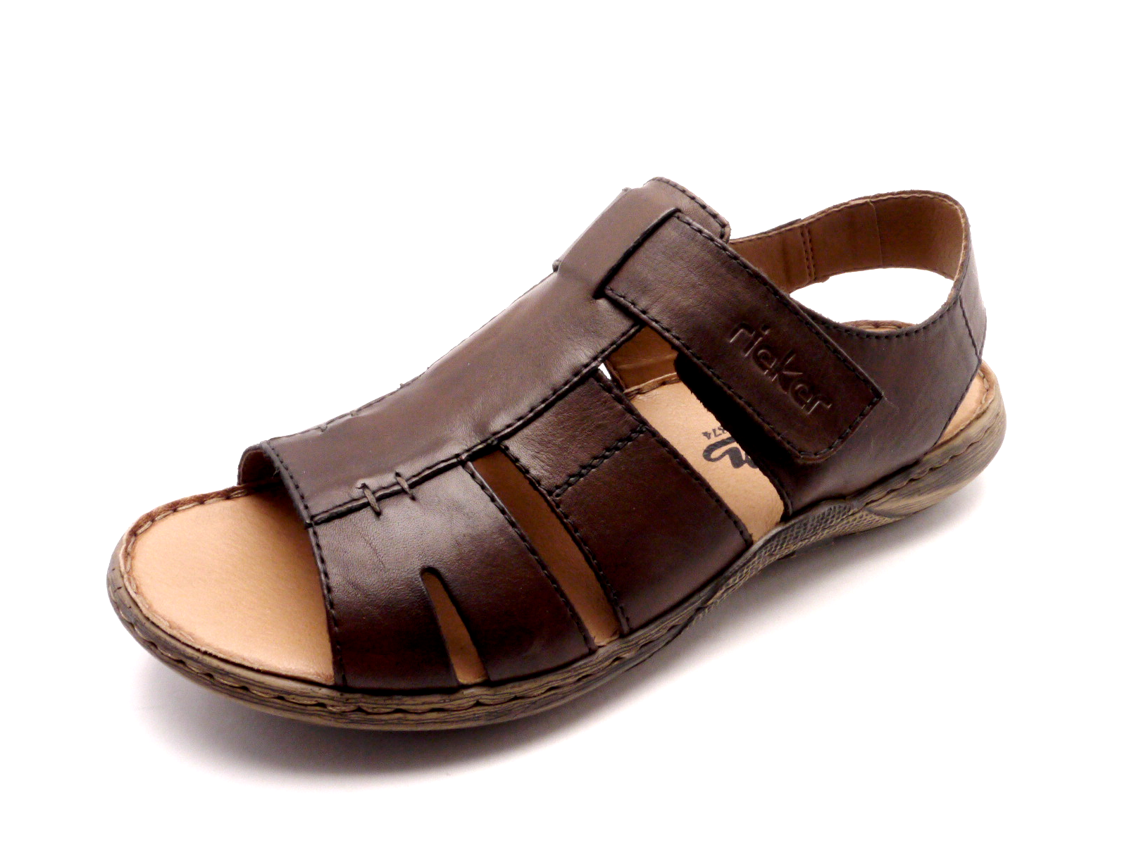 df685d656bac Rieker Pánské hnědé sandály 22073-25 Velikost  47