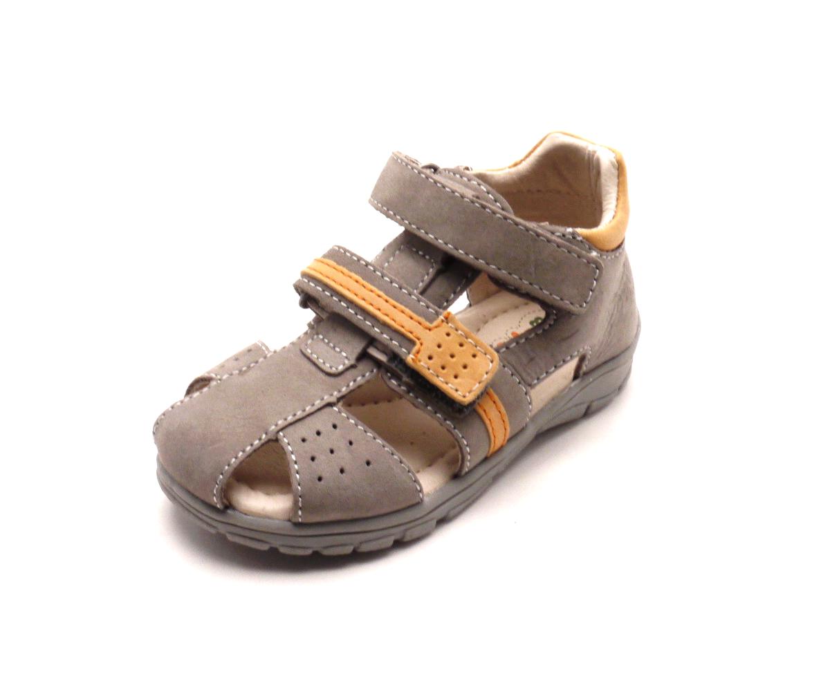 Obutex Dětské sandálky DA05-1-507A chocolate Velikost  33 82c9a8604a