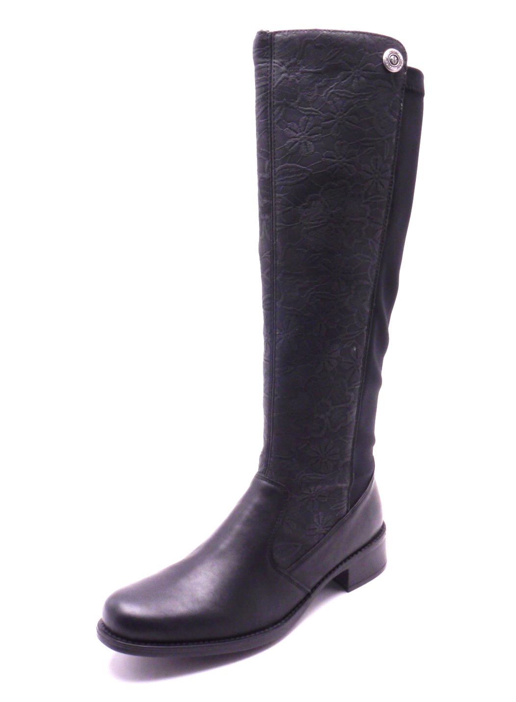 Rieker Dámské černé kozačky s ozdobným vzorem Z7391-01 Velikost: 41