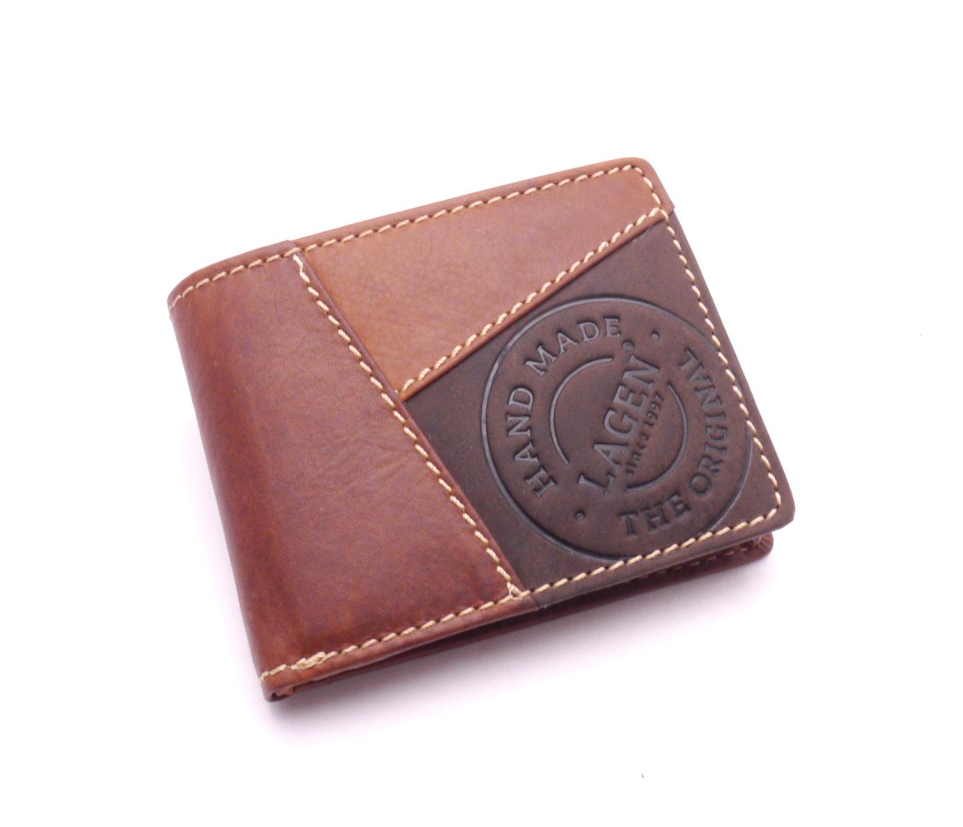 Lagen Pánská kožená peněženka 511451 TAN