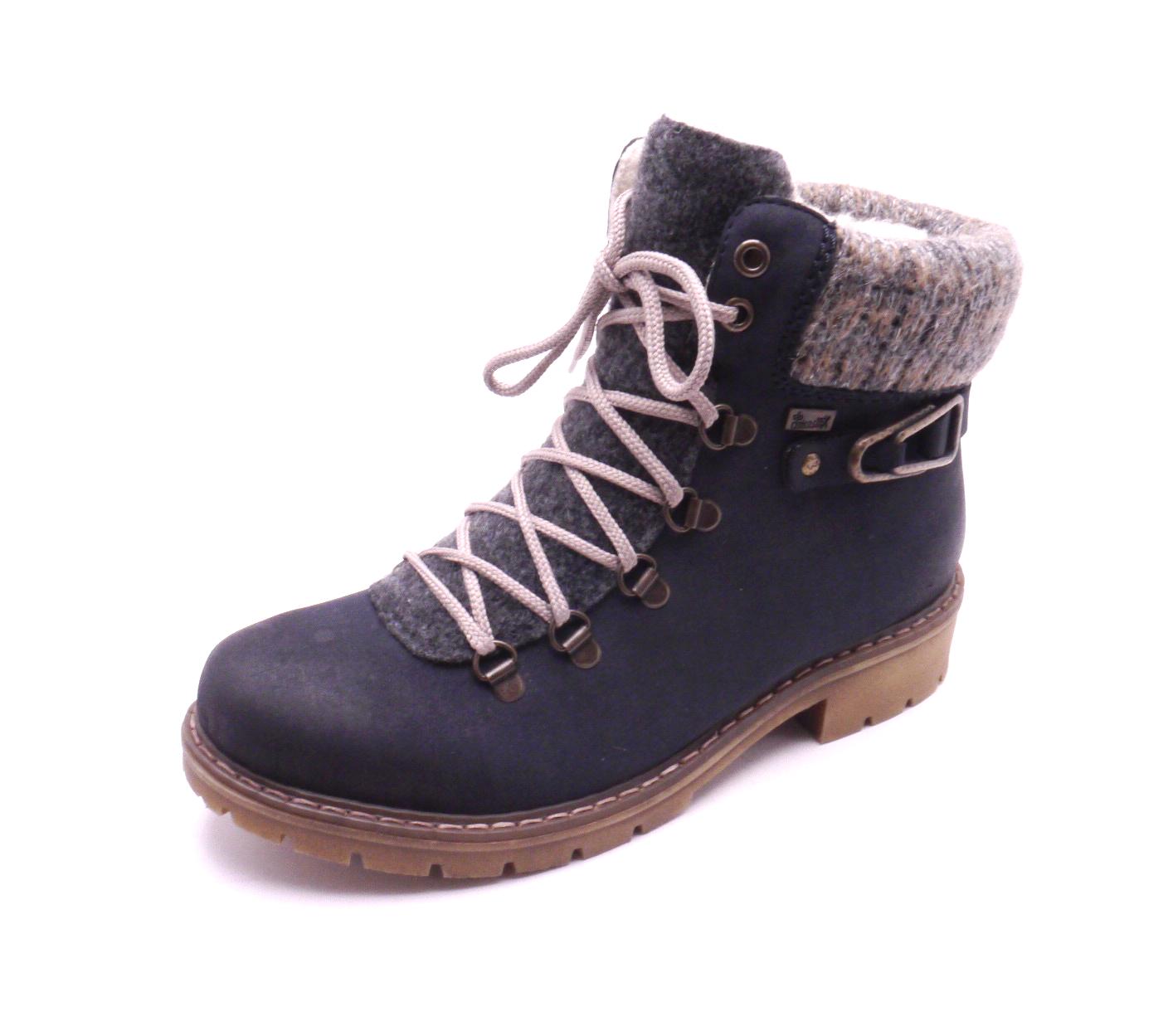 Rieker Dámské kotníkové boty s pleteninou Y9131-14 Velikost: 37