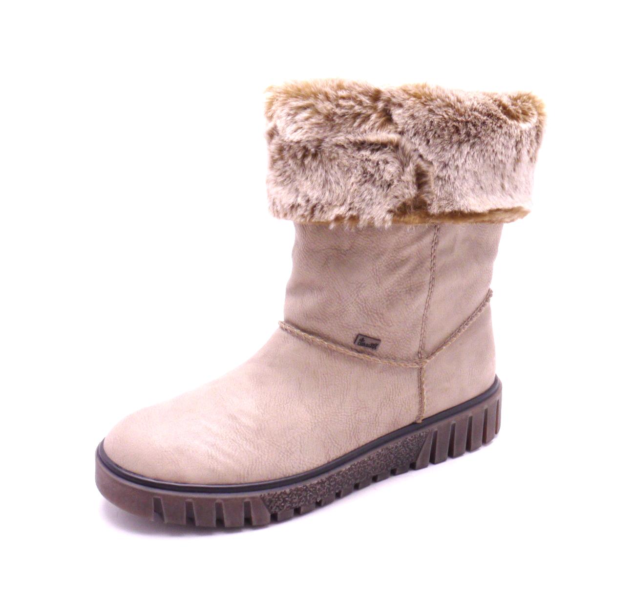 a0e4de915f1 Rieker Dámské kotníčkové boty s kožíškem Y3492-60 Velikost  36