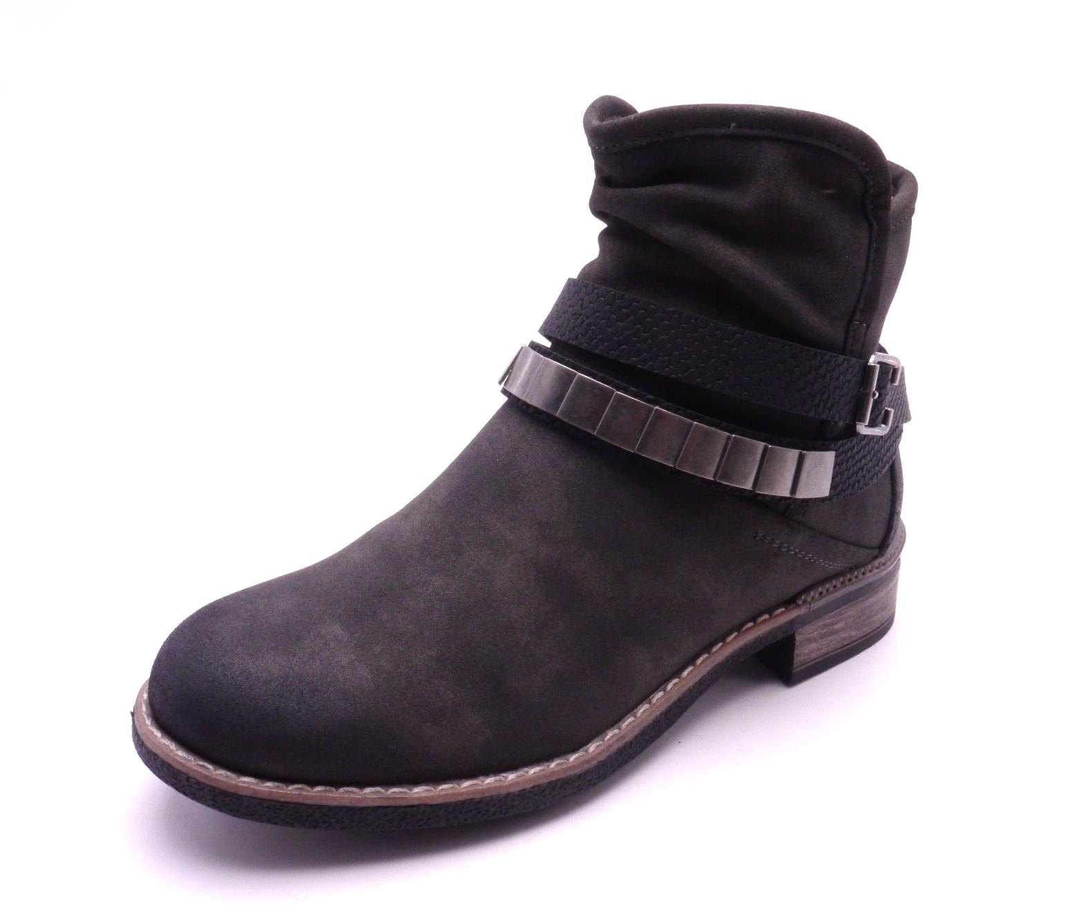 Rieker Dámská kotníčková šedá obuv 94671-45 Velikost  42 575bf190f78