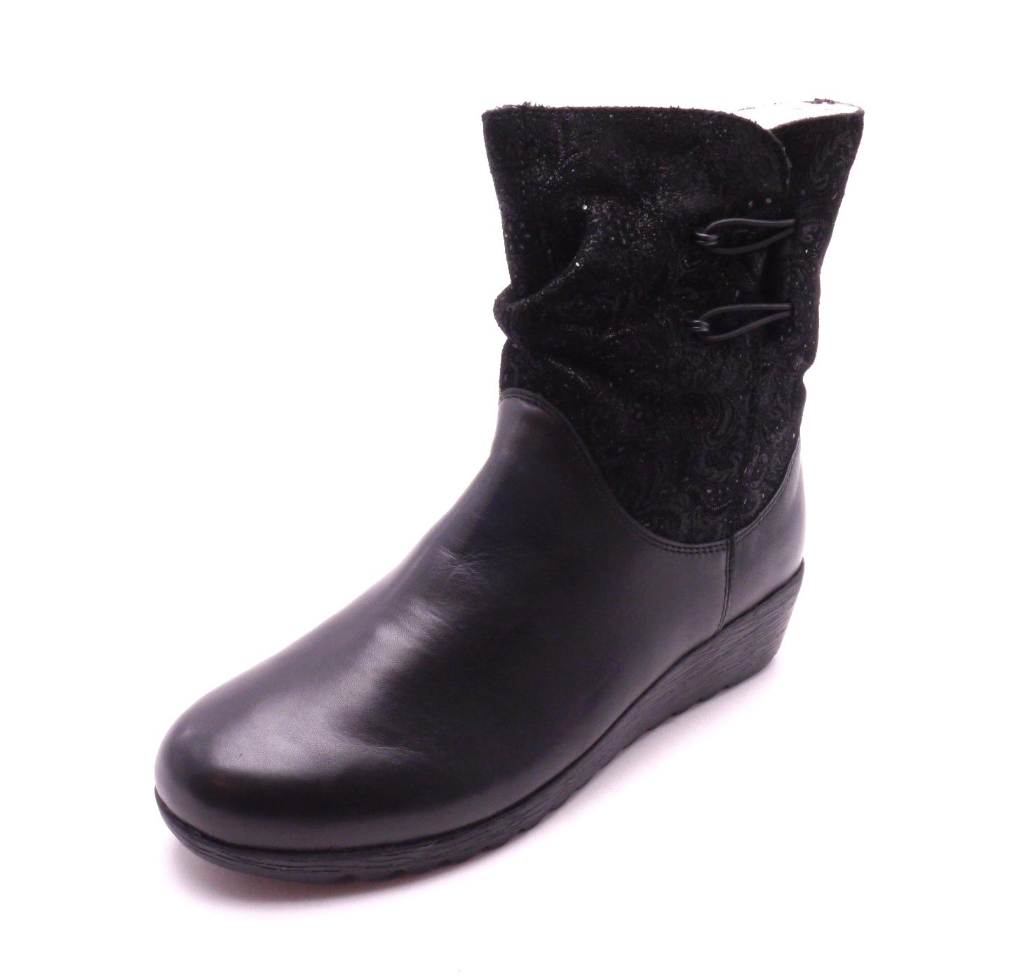 Rieker Dámská kotníková obuv na klínku X2474-00 Velikost: 41