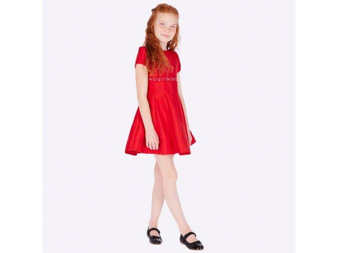 Červené taftové šaty Mayoral