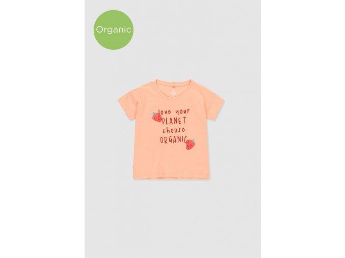 Lososové tričko Boboli z organické bavlny