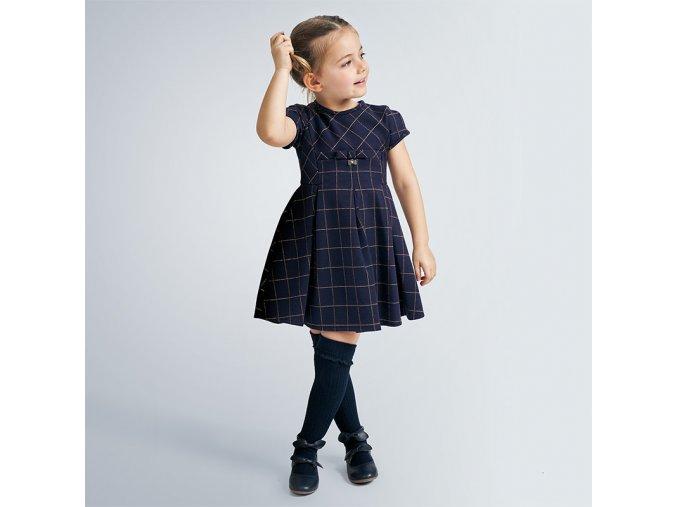 Modré kostkované šaty Mayoral