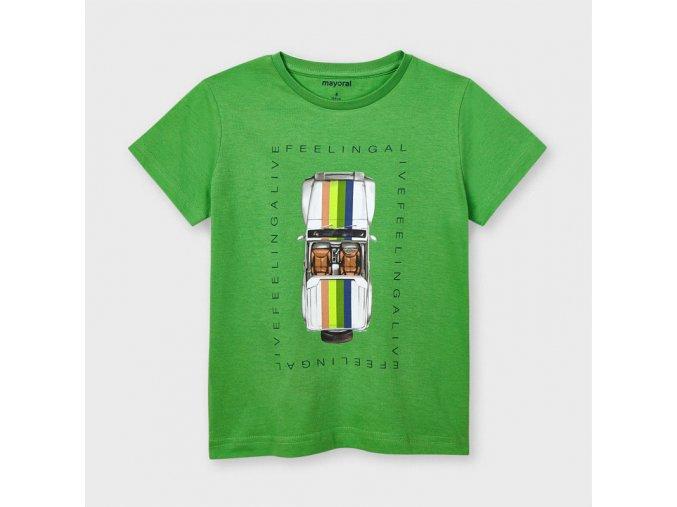 Zelené tričko auto od Mayoralu